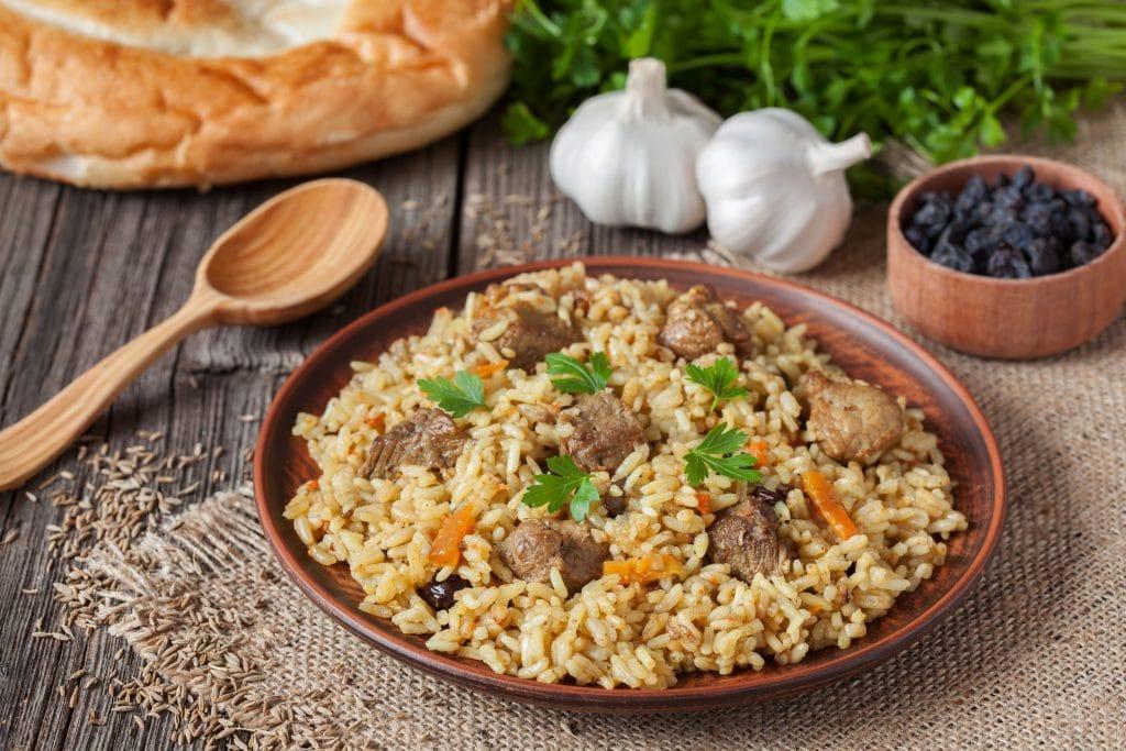 Comida no Uzbequistao